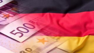 Bandera de Alemania con euros