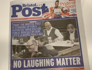 Bristol Post front page 11 December, 2019