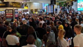 Chaotic scenes at Gatwick