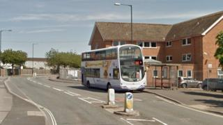 Number 90 bus on Inns Court Avenue in Knowle
