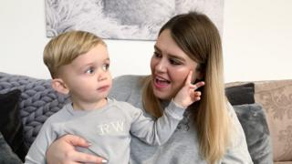 Rising Instagram star Ralphie Waplington with his mum, Stacey Woodhams