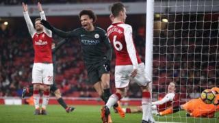 Sane ya daga ragar Arsenal