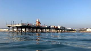 Paignton Pier from a kayak