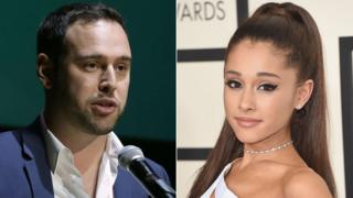 Scooter Braun and Ariana Grande