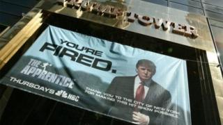 Katika kipindi chake cha runinga rais Trump alitumia neno 'umefutwa kazi'