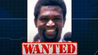 "Augustin Bizimana with the word ""wanted"" under this name"