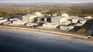 İngiltere'deki Hinkley Point nükleer enerji santralinin planlanan görünümü