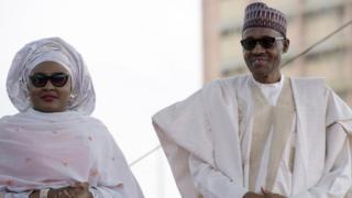 Aisha Buhari na onyeisiala Muhammadu Buhari