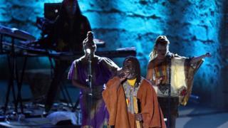 Ivory Coast's reggae singer Tiken Jah Fakoly performs in Tunis, Tunisia - Tuesday 16 August 2016