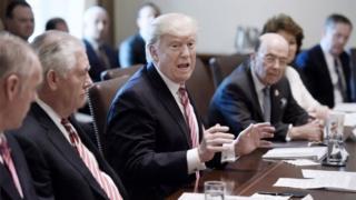 Donald Trump ve kabine üzvləri