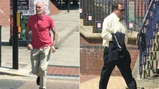 David Batty (l) and Michael Burns were sentenced at Leeds Magistrates' Court