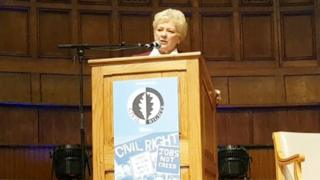 Nuala O'Loan was speaking at an event in Londonderry's Guildhall