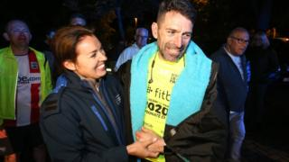 Francis Benali completing day 4 of IronFran challenge