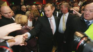 Irish president Enda Kenny at an election count