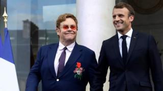 Elton John na Emmanuel Macron