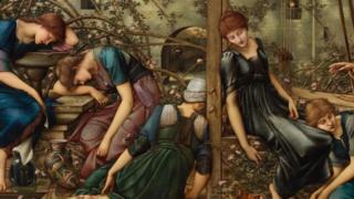 The Garden Court oleh Burne-Jones, 1874-84