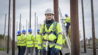 Engineer in pole yard