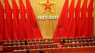 習近平在慶祝中國解放軍建軍90週年大會上發表演講。