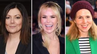 Fiona Allen, Amanda Holden and Sally Phillips