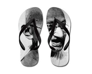 sandalias de Gandhi