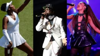 Venus Williams-Will.I.Am-and-Ariana Grande.