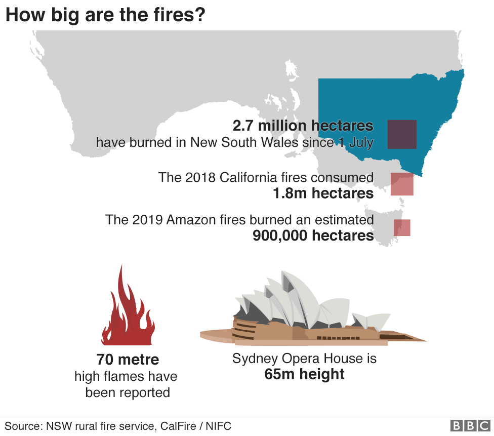 science How big are the fires?