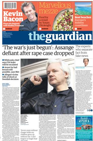 The Guardian front - 20/05/17