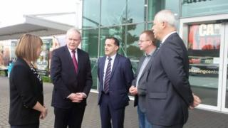 Mr McGuinness met council and airport officials on Monday