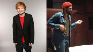 Ed Sheeran (left) and Marvin Gaye (right)