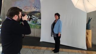New MP having photograph taken