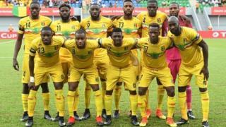 L'équipe nationale des Aigles du Mali lors de la CAN Total 2017 au Gabon