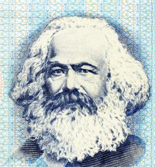 An illustration of Karl Marx