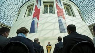 David Cameron at British Museum