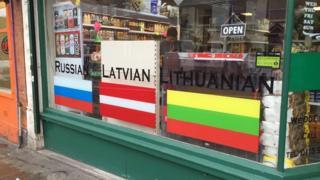 Магазин восточноевропейских продуктов в Ноттингеме