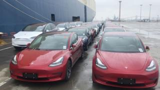 Some of Tesla's Model 3 cars were delayed entering China