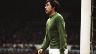 Gordon Banks playing for Stoke City in 1967