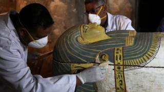 Sarcophagi discovered at Luxor site