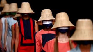 на показе Недели моды в Мадриде
