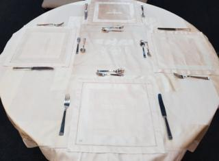 The Nazi Germany tablecloth and cutlery set