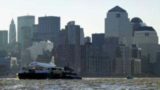 A retired BA Concorde was sailed up the Hudson River in New York to be exhibited at the Intrepid Sea, Air and Space Museum