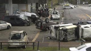 ဂျေဘီ မုန်တိုင်းကြောင့် ဂျပန်မှာ အပျက်အစီးများ