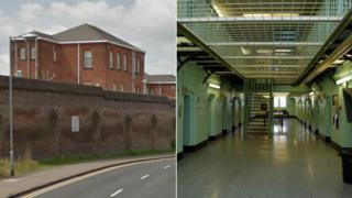 Chelmsford Prison outside and inside