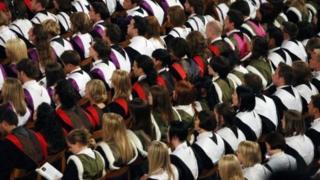 Graduation, university hall