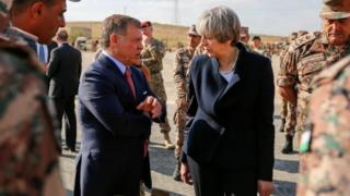 Theresa May and King Abdullah of Jordan