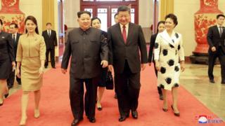 Kim Jong-un and Xi Jinping