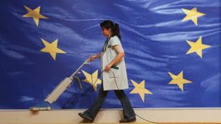 уборщица на саммите ЕС