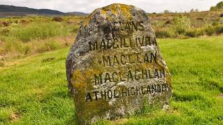 Grave marker at Culloden