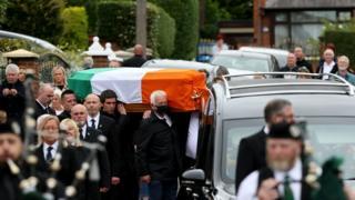 Bobby Storey's funeral in west Belfast