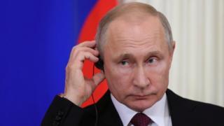 Vladimir Putin em evento
