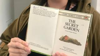 Zoe identified her childhood copy of The Secret Garden by the hieroglyphics inside